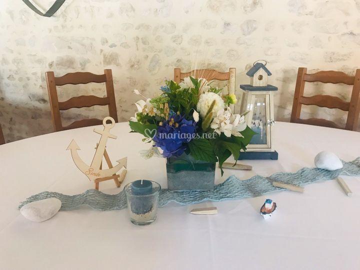 Centre de table thème marin