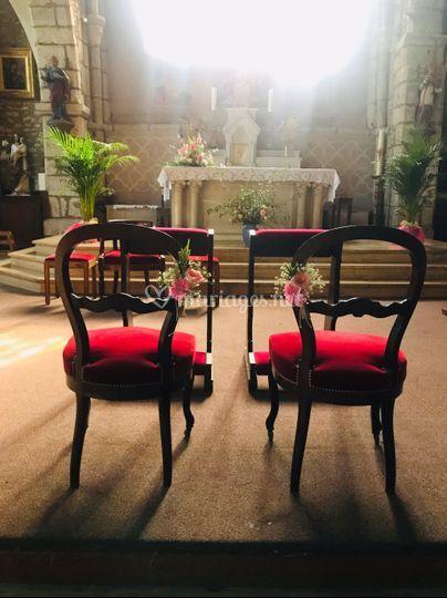 Chaises mariés -