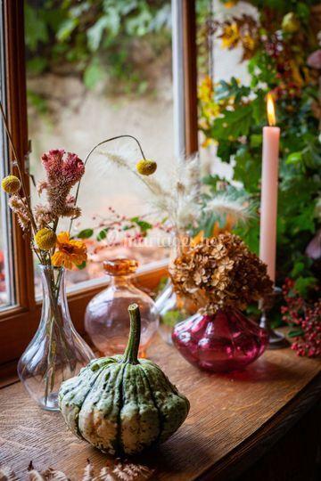Décoration florale automnale