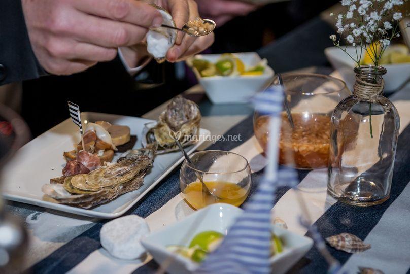 Buffet d'huîtres