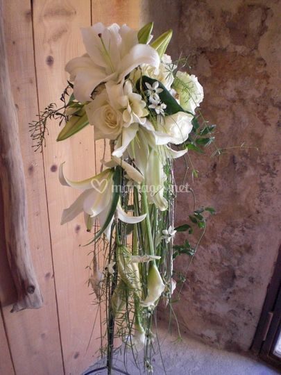 Bouquet de mariée retombant