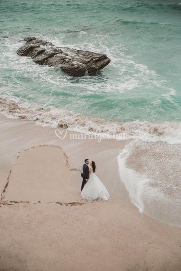 Photos de couple à la plage