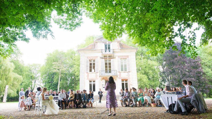 Objectif mariage - Ceremonie mariage plein air ...