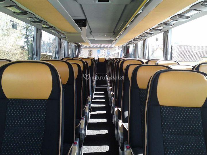 Interieur bus tourisme