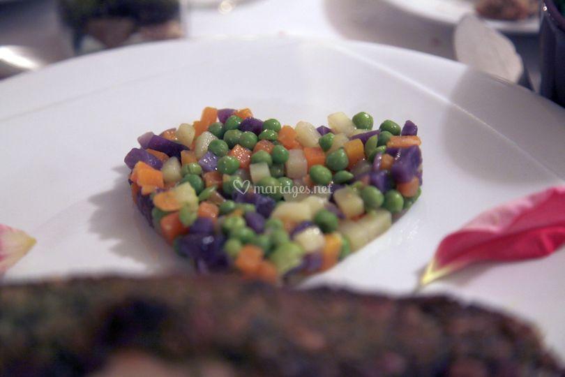 Coeur de petit légumes