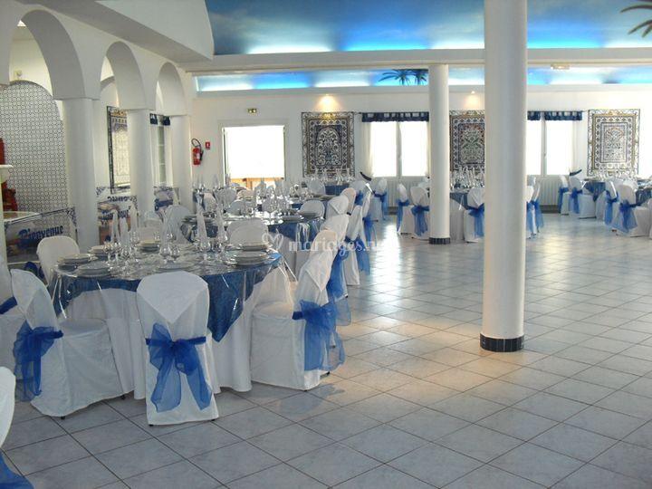Mariage en bleu