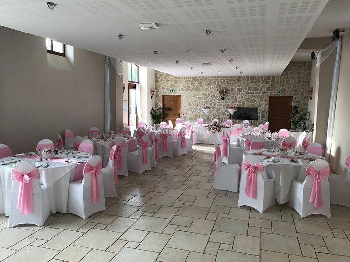 Roseraie décor rose