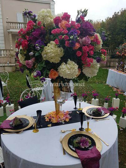 Gros bouquet centre table