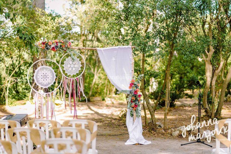 Arche fleurie cérémonie laique