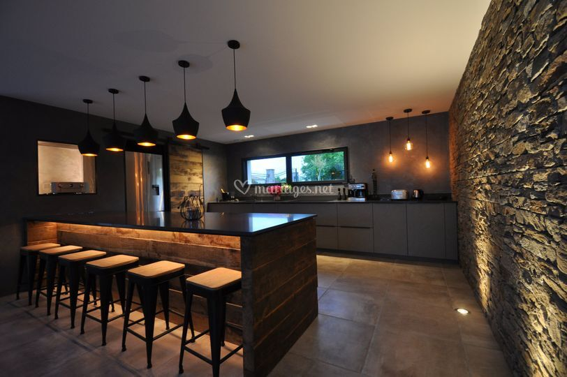 Cuisine ouverte bar