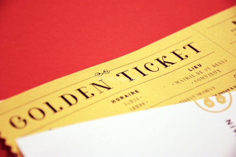 Invitation Golden Ticket