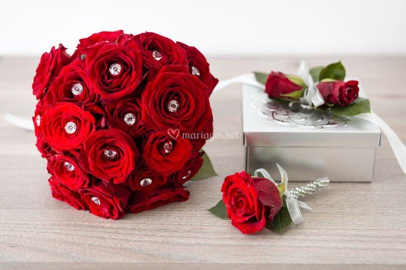 Un ensemble floral chic