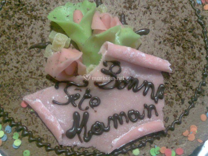 Desserts - gâteau bonne fête maman