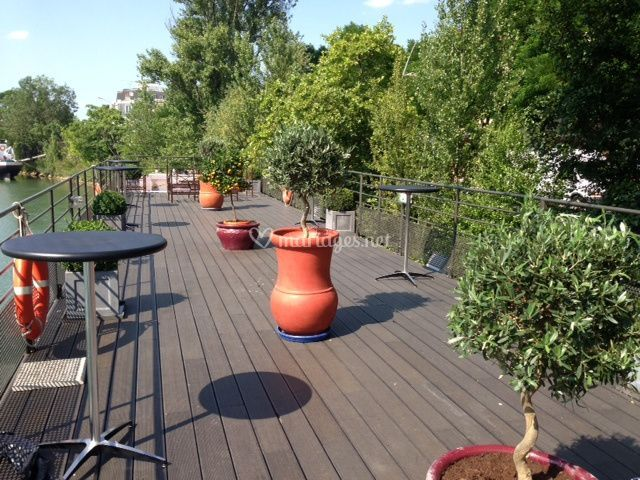 Terrasse de 100 m²