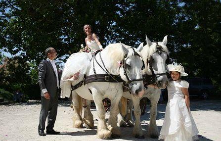 La mariée à cheval