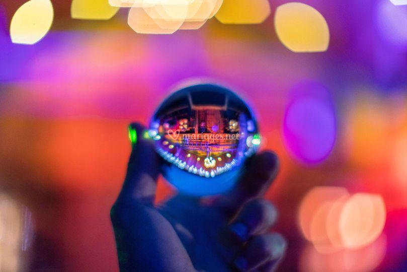 Chalet dans glassball