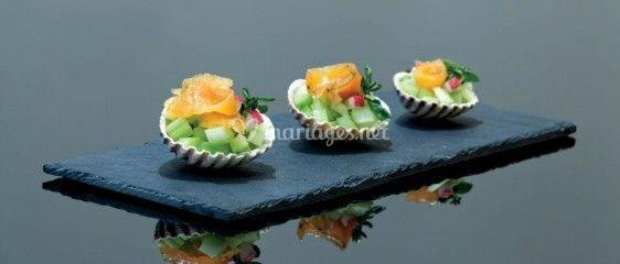 Mini salade fraîcheur en coquillage