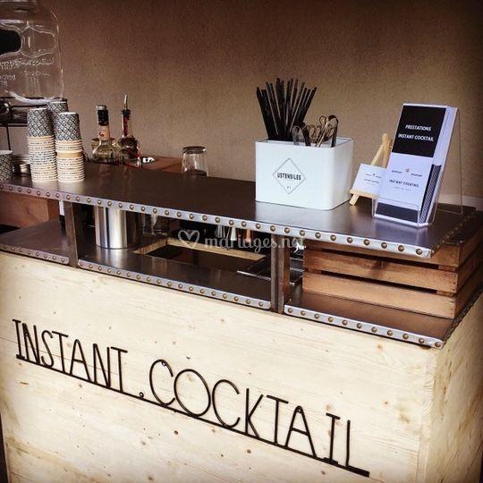 Bar mobile rustique et chic