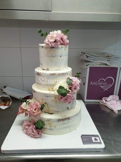 Nacked cake fleur