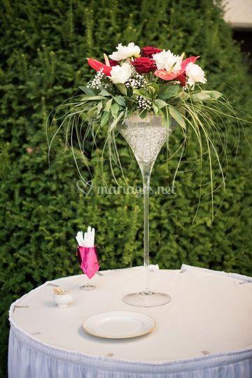 Vase martini Floral
