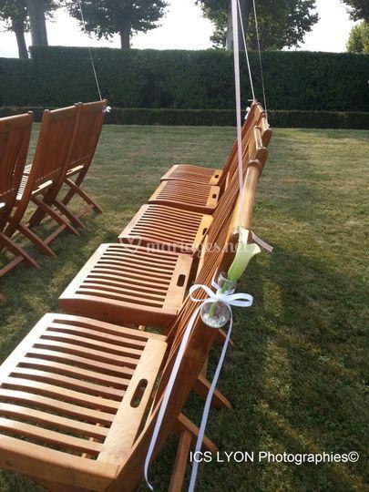 Chaises décorées