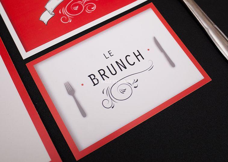 Carton brunch mariage
