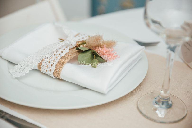 Serviette de table customiser