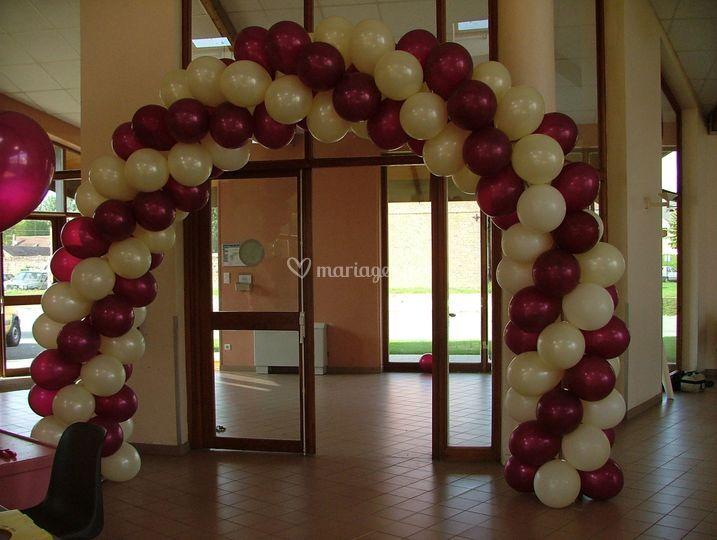 Arche entrée ballon