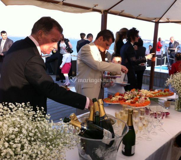 Buffet mariage bord de mer
