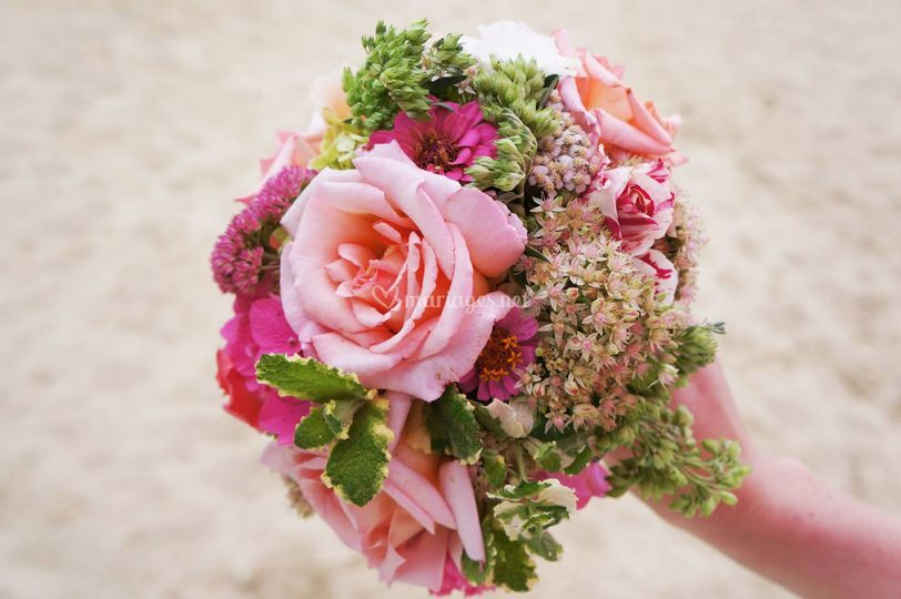 Bouquet rose vintage