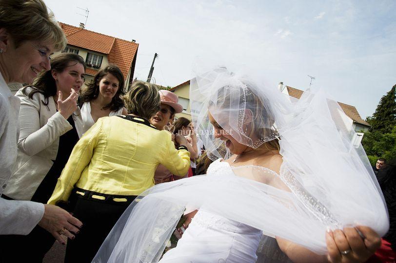 Mariage sortie église