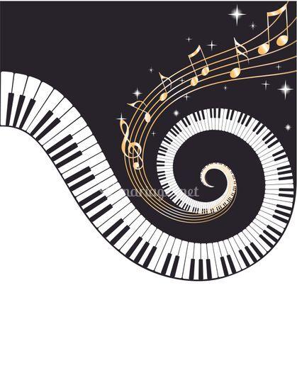 Faire part thème piano