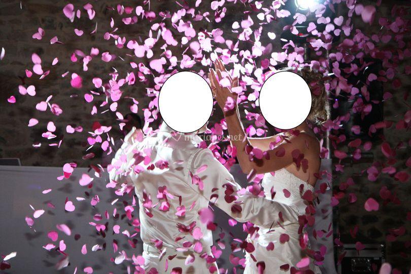 Canon confettis coeur