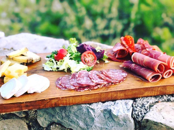 Assiette charcuterie - fromage