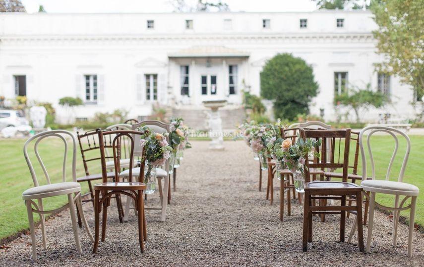 Chaises pour cérémonie vintage