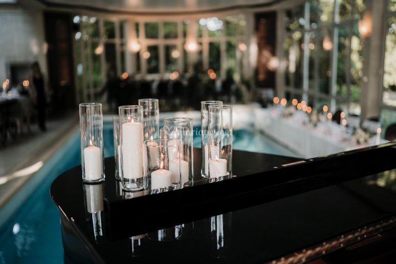 Piano et bougies