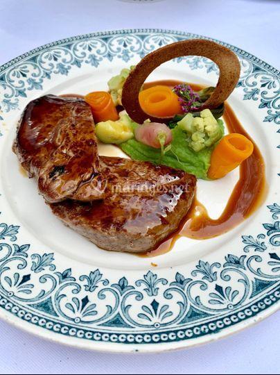 Cœur de bœuf et légumes