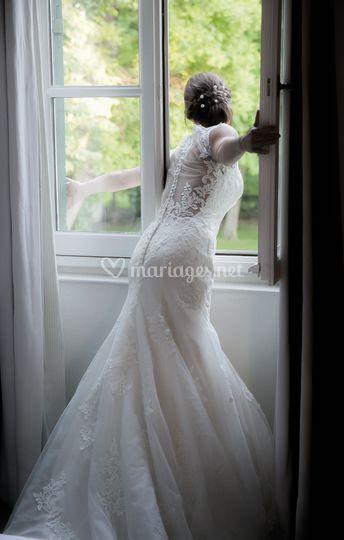 La mariée dans sa chambre...