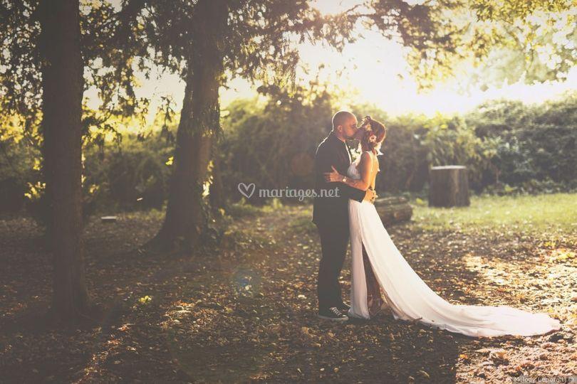 Photo de couple dans le parc