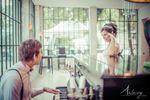 Les mariés dans l'Orangerie