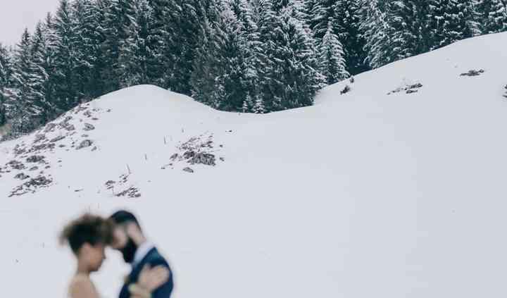 Vue sur la neige