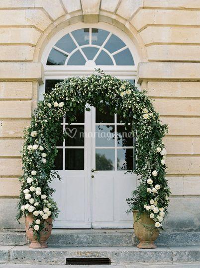 Une arche de fleurs