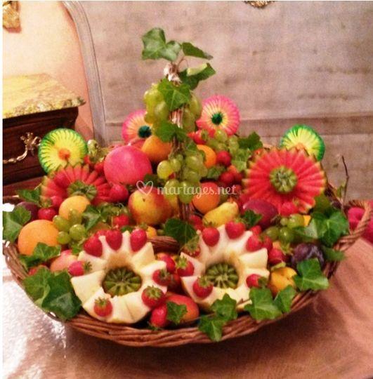 Fruits sculptés