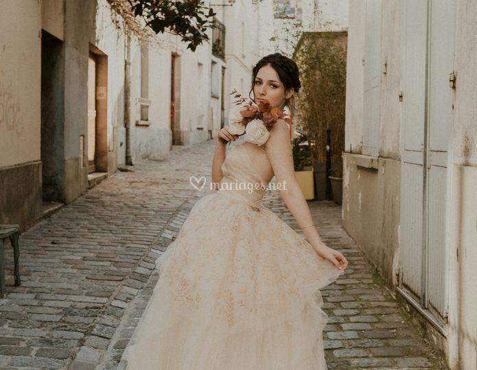 Robe de mariée Rose Gold