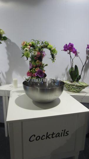 Notre fontaine fleurs fraîches