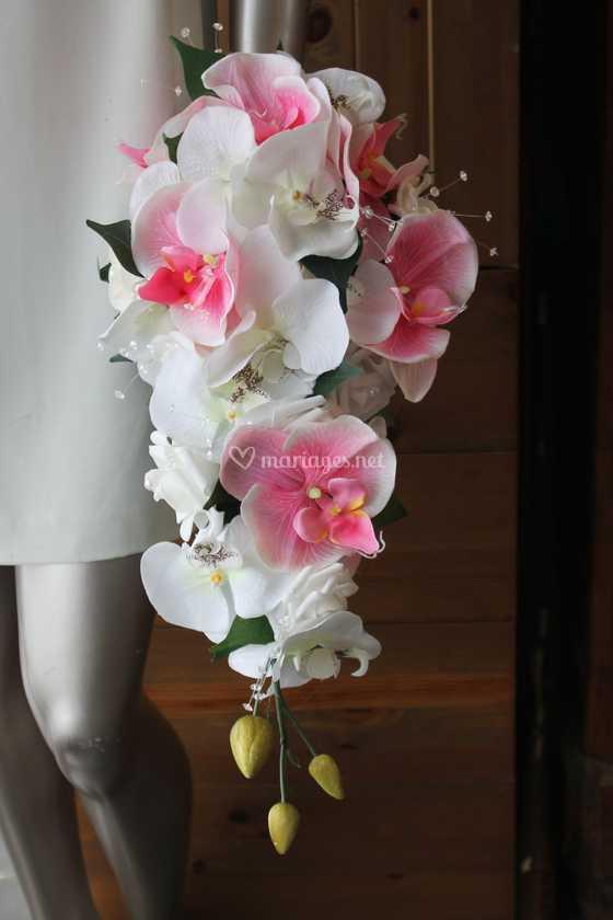 Bouquet Mariee Orchidees Rose De Compositions Florales Pour