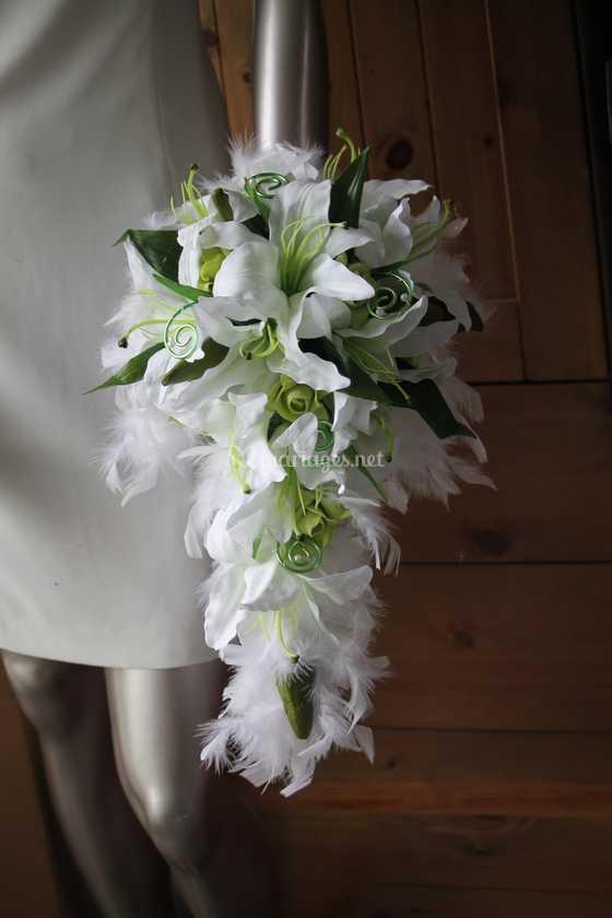 prix d'usine acheter pas cher qualité stable Bouquet mariage lys et plumes de Compositions Florales pour ...