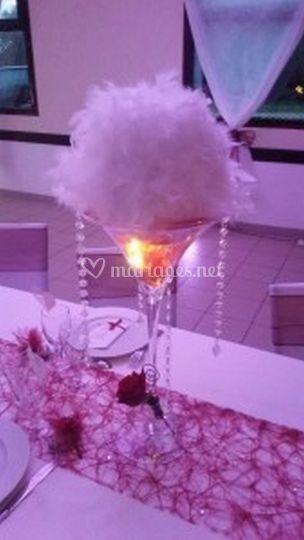 Vase martini et chaine