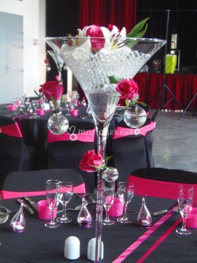 Vase martini 70 cm de location pour mon mariage photo 8 - Decoration de vase pour mariage ...