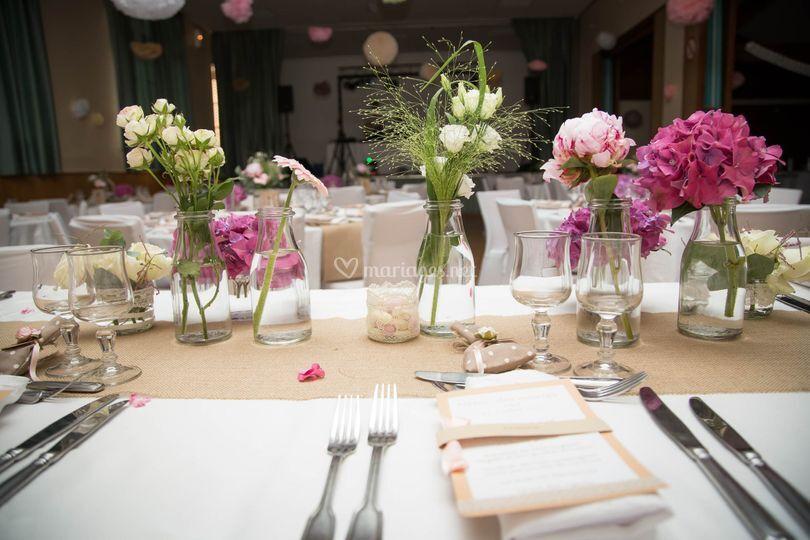 Table des mariées....